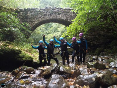 Canyoning beginners Lower Aján with video GoPro