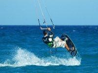 在Telde学生风筝冲浪风筝