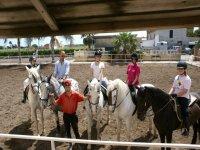 Alumnos de la hipica de Alboraya