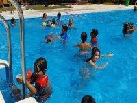 Chapuzon en la piscina