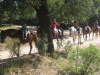 Montando a caballo en el Star Camp