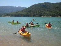 Kayak durante el Cherokee Camp