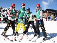 empezando el curso de esqui