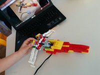 Nave lego del taller de robotica