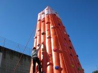 Ensayando la escalada