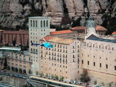 直升机飞行蒙特塞拉特之旅