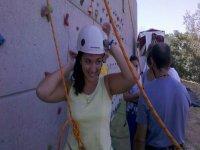 准备练习登山运动准备rocodromo tirolina