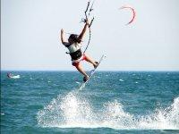 Kite practice in Tarragona