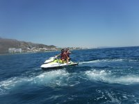Jet ski excursion on the coast of Almeria