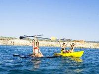 Kayak y sup desde el barco
