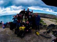 Grupo de submarinistas en Cadiz