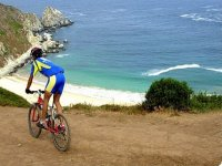 Mountain and beach by bicycle