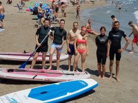 Sup group in La Manga beach