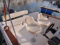 Asientos del barco en Menorca