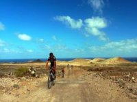 We travel the island by bike