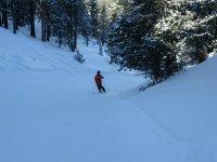 在Espot滑雪