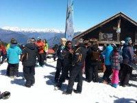 Gathered in the ski resort
