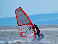 Windsurfing with full neoprene