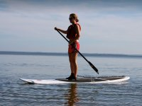 Girl on sup white table