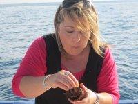 Degustando un erizo de mar