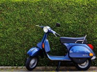 Scooter de color azul