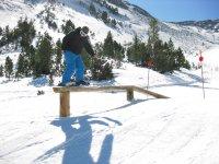 滑雪板在Tavascan Tavascan