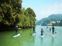 Paddle surf en grupo por A Coruna