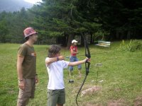 Archery session in the camp