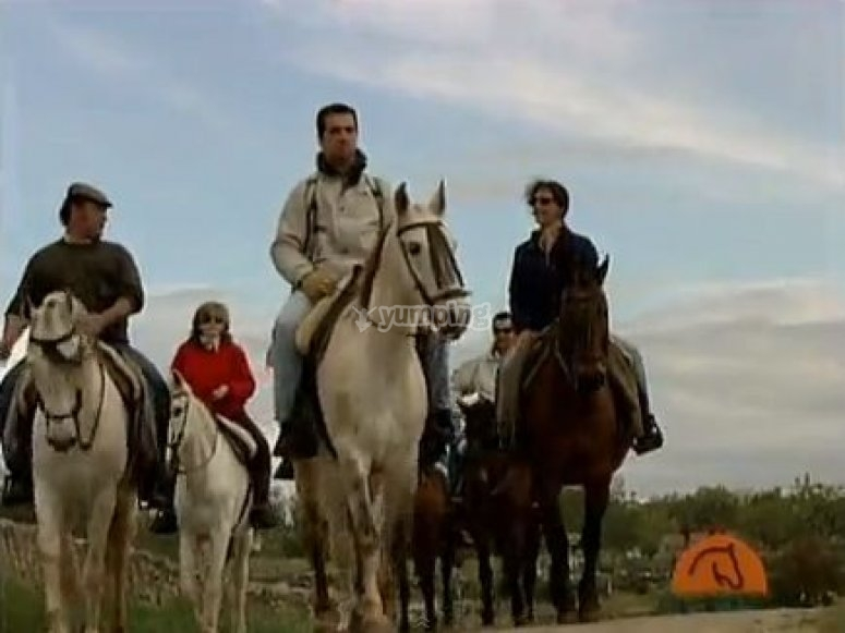 Horse riding for 5 hours