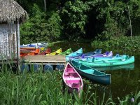 Colored canoes