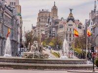 La gran plaza de la Cibeles en Madrid