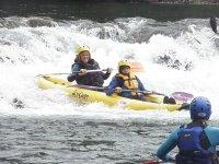 kayaks en equipo
