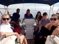 Pasando la jornada en el velero
