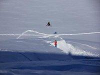 During the ski lift