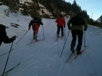 group with the skis