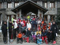 group with snowshoes