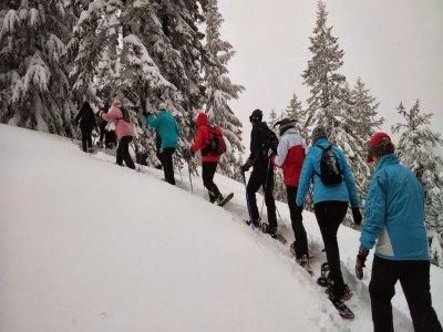 Grupo FGC Vall de Nuria Raquetas de Nieve