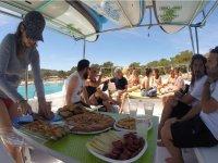 Mangiare a bordo della barca
