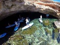 Sup tra baie di Ibiza