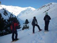 Descansando与雪鞋
