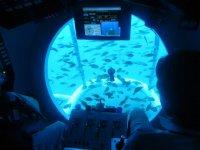 vistas desde el submarino