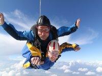 Salto de paracaidismo tandem en Andalucia