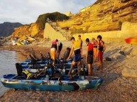 En Arta con los kayaks a pedales