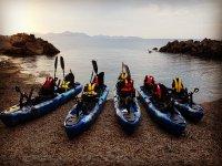 Nuestros kayaks a pedales