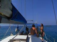 在懒洋洋梅诺卡标志在梅诺卡岛