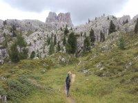 Caminando hacia la montaña