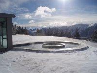 Aguas termales en la nieve