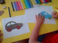 Pintando coches de colores