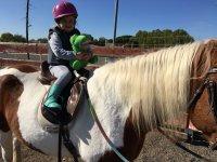 Horseback riding with children in Madrid