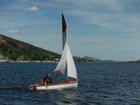 Navegando en el barco de vela